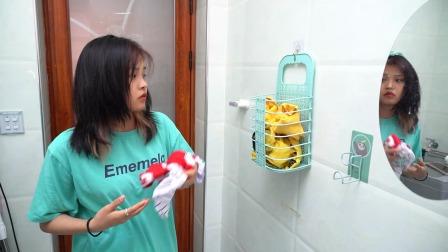 洗澡时衣服总是没地方放,入手了这个折叠脏衣篮,不用时折叠起来