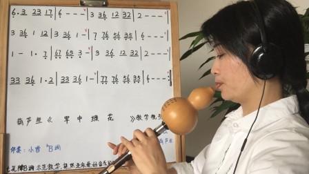 《军中绿花》葫芦丝教学视频,第二课,共三课