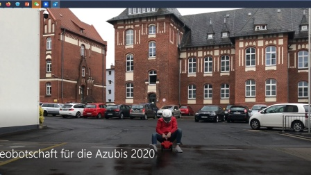Videobotschaft für die Azubis 2020