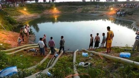 浙江有一座水塘,村民用抽水机连续抽了20天,结果抽出世界奇迹