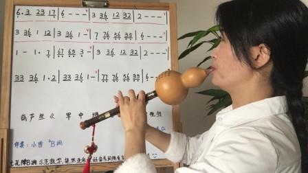 《军中绿花》葫芦丝教学视频,第三课,共三课
