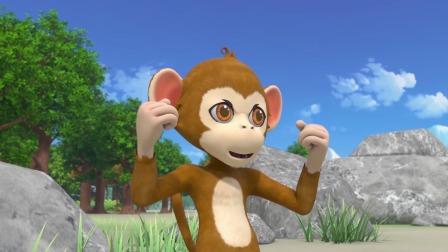 猴子连续发射了4枚陀螺,局势占据上风