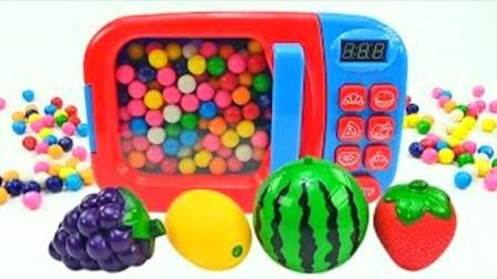 趣味果肉球魔力变切切乐水果玩具,魔法微波炉创意新玩法送给你!