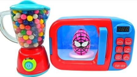 趣味亲子魔法微波炉魔力72变,蜘蛛侠惊喜彩蛋玩具礼物送不停
