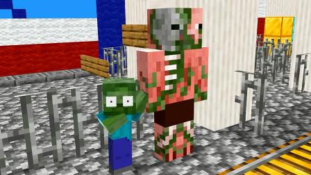 我的世界动画-怪物学院-小僵尸迷路了
