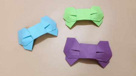 这种蝴蝶结很多人见过但不会折,今天手把手教会你,手工折纸视频