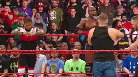 WWE:安布罗斯告别战,惨遭巴比莱斯利袭击!