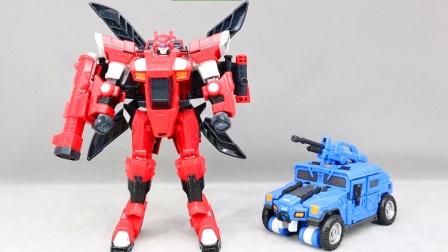 迷你特工队玩具开箱,赛米机甲变形机器人