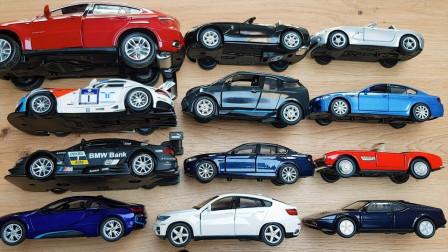 12款宝马汽车模型玩具展示