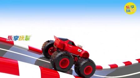 乐享知识乐园的改装越野跑车涂装红色车衣