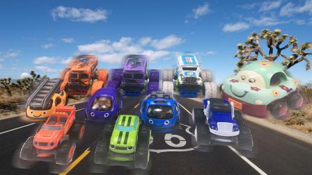霸气儿童男孩玩具,公路越野四驱车模型,互动创意休闲玩具车