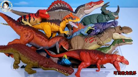 介绍侏罗纪恐龙世界,学习认识恐龙的名字