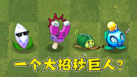 植物大战僵尸:挑战一个大招秒掉巨人僵尸,哪些植物能成功?