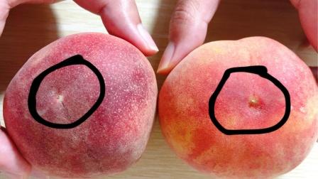桃子甜不甜,看一眼这里就知道,一挑一个准,老果农的方法真管用