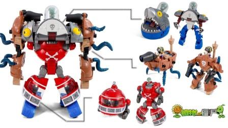 植物大战僵尸变形玩具,三种战甲合体后会变出什么呢?