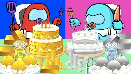 船员小蓝小橙吃生日蛋糕
