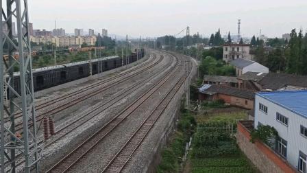上局合段HXD3C-0035牵引电客K594通过撮镇