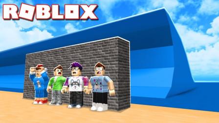 ROBLOX建造逃离自然灾害:把队友封进水泥墙关起来!咯咯多解说