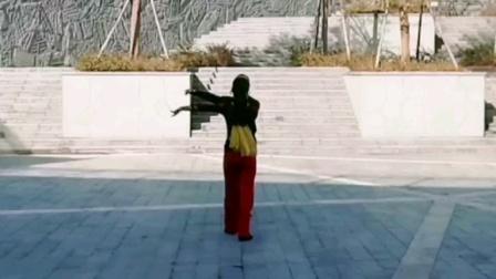 水兵舞第九套第四节音乐演示《回头相望》王雄老师与邬彩凤老师