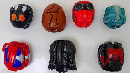 怪兽奥特曼,麦昆和葬火龙,玩具蛋变形