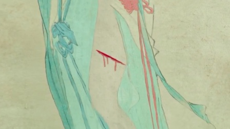 神医在画中人上割了一刀,不料真的流出血,喝一口治百病!