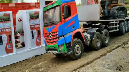 趣味益智玩具 卡车运输货物