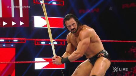 WWE:最后站立者赛,安布罗斯遭到德鲁麦金泰尔爆桌!
