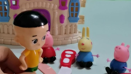 大头儿子不让小朋友们玩小刀玩具