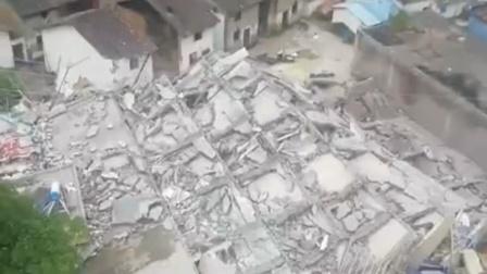 湖南省汝城县一栋民房发生垮塌 武警消防火速救援