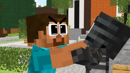 我的世界MC动画:小僵尸舍身守护凋灵骷髅