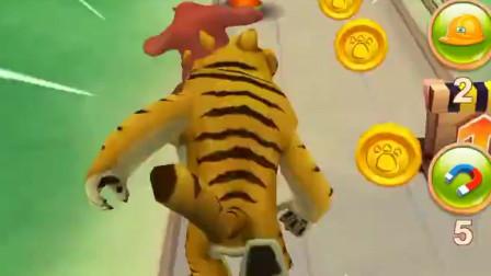熊出没之熊大快跑-横冲直撞的时候,就需要老虎面具
