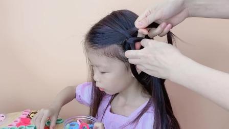 长发女孩如何扎上学发型?