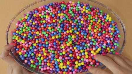 DIY彩虹颗粒混泥,无硼砂,美丽密集美轮美奂,解压