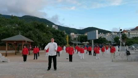 赵亮云南昆明抚仙湖领练杨氏太极拳85式