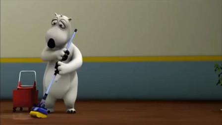 贝肯熊:小企鹅的健身操,贝肯熊看了都流口水了