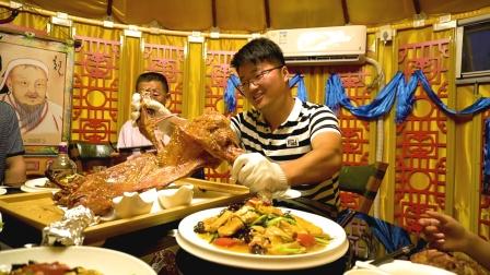 村里新开烤全羊,父亲节享受全羊大餐,肥羊买单,仨爹过瘾