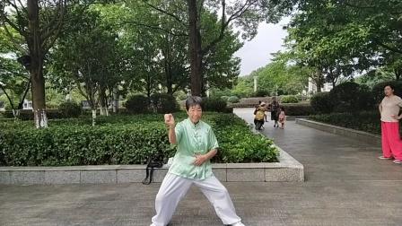 邹阿姨演练陈式洪传太圾拳一路81式2021年06月20日
