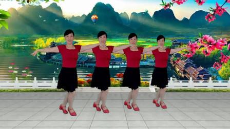 郴州冬菊广场舞【最美爱情】优美柔情舞蹈跳出最美的你附背面分解