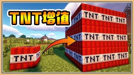 鬼鬼【我的世界】TNT无限增值【生存挑战】TNT打倒终界龙?