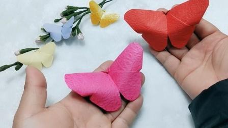 一起折一个简单又好看的蝴蝶,步骤简单一看就会哦!