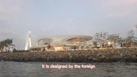 皮划艇海上欣赏海口夕阳,网红云洞图书馆和世纪大桥✔携外教(英语解说字幕)