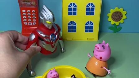 趣味玩具:怪兽变成猪妈妈,奥特曼一眼就认出来!