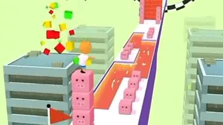 趣味小游戏:小人冲刺,太有趣