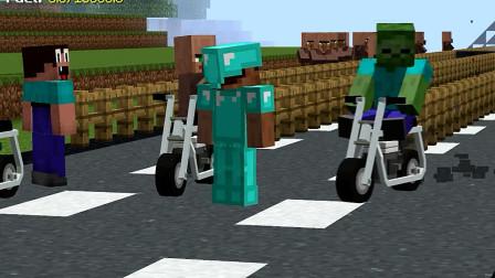 我的世界动画-菜鸟的单车挑战