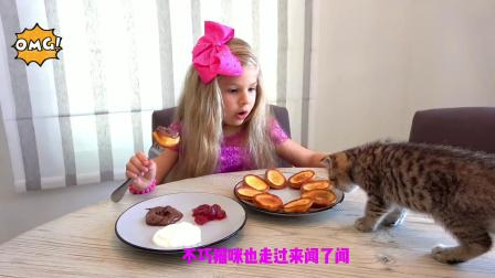 猫咪要跟小可爱去上学,看它会怎么做