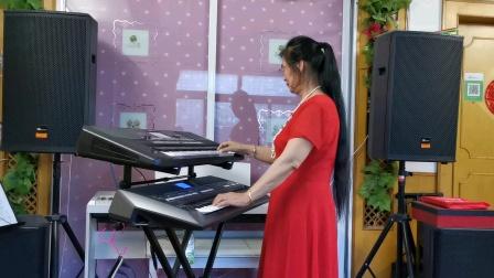 《共筑中国梦》视频双电子琴演奏2021.6.21.🌹🌹🌹
