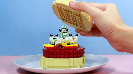 如何用乐高制作一份星球大战风格的汉堡?小伙自制定格动画,网友:操作太牛了
