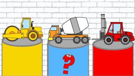 益智汽车游戏 给工程车喷涂颜色 学习它们的名字