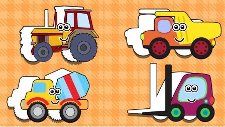 小房子里有很多汽车图案 小朋友们快来帮助它们吧!