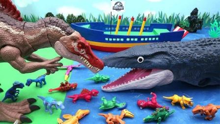 彩色迷你恐龙蛋和大恐龙玩具